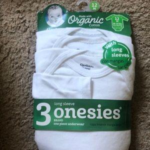 Organic long sleeve onesies